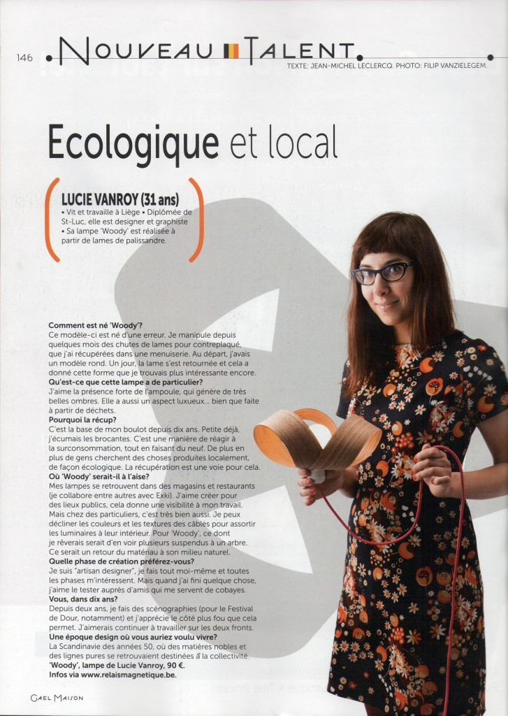 interview Gael maison septembre 2013