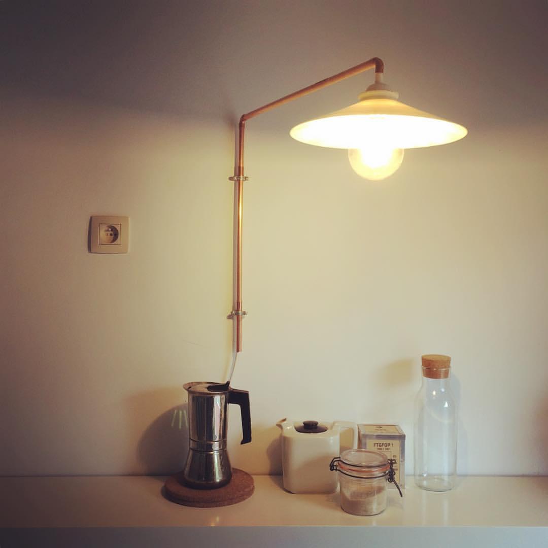 applique murale orientable en cuivre lv creations. Black Bedroom Furniture Sets. Home Design Ideas