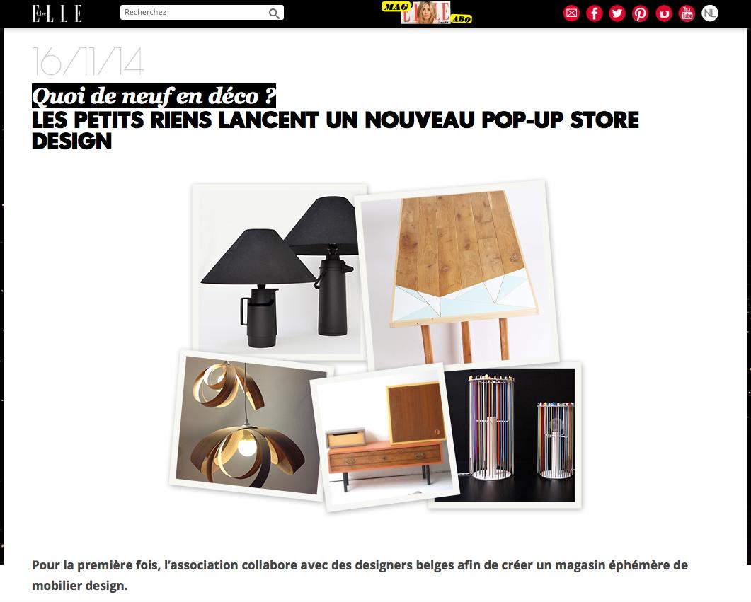Elle Belgique Up Store novembre 2014
