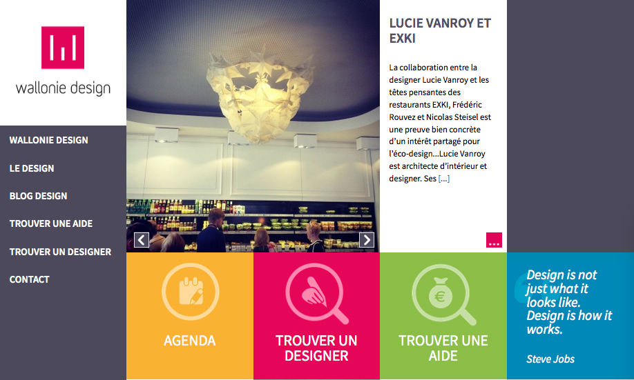 page accueil article Wallonie Design juin 2015