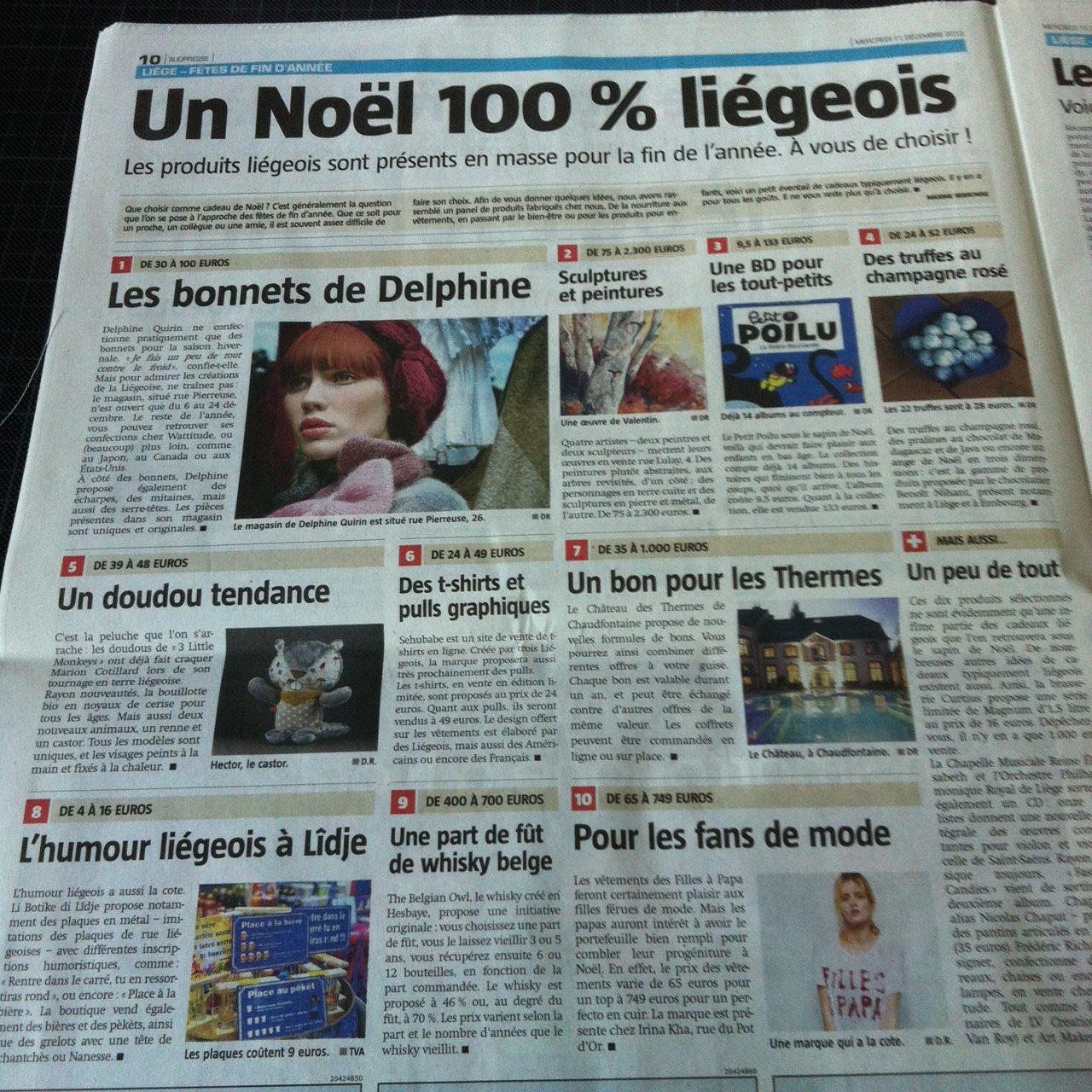 article La Meuse cadeaux 2013