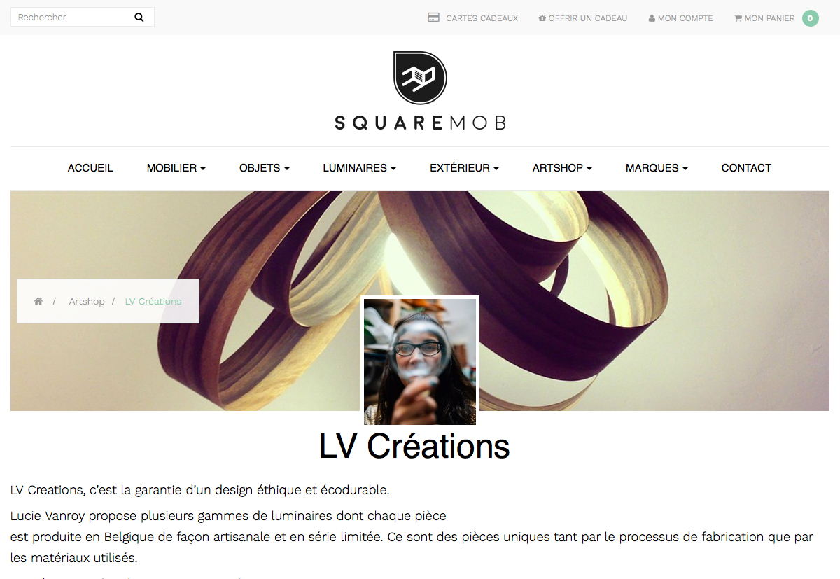 page accueil site squaremob
