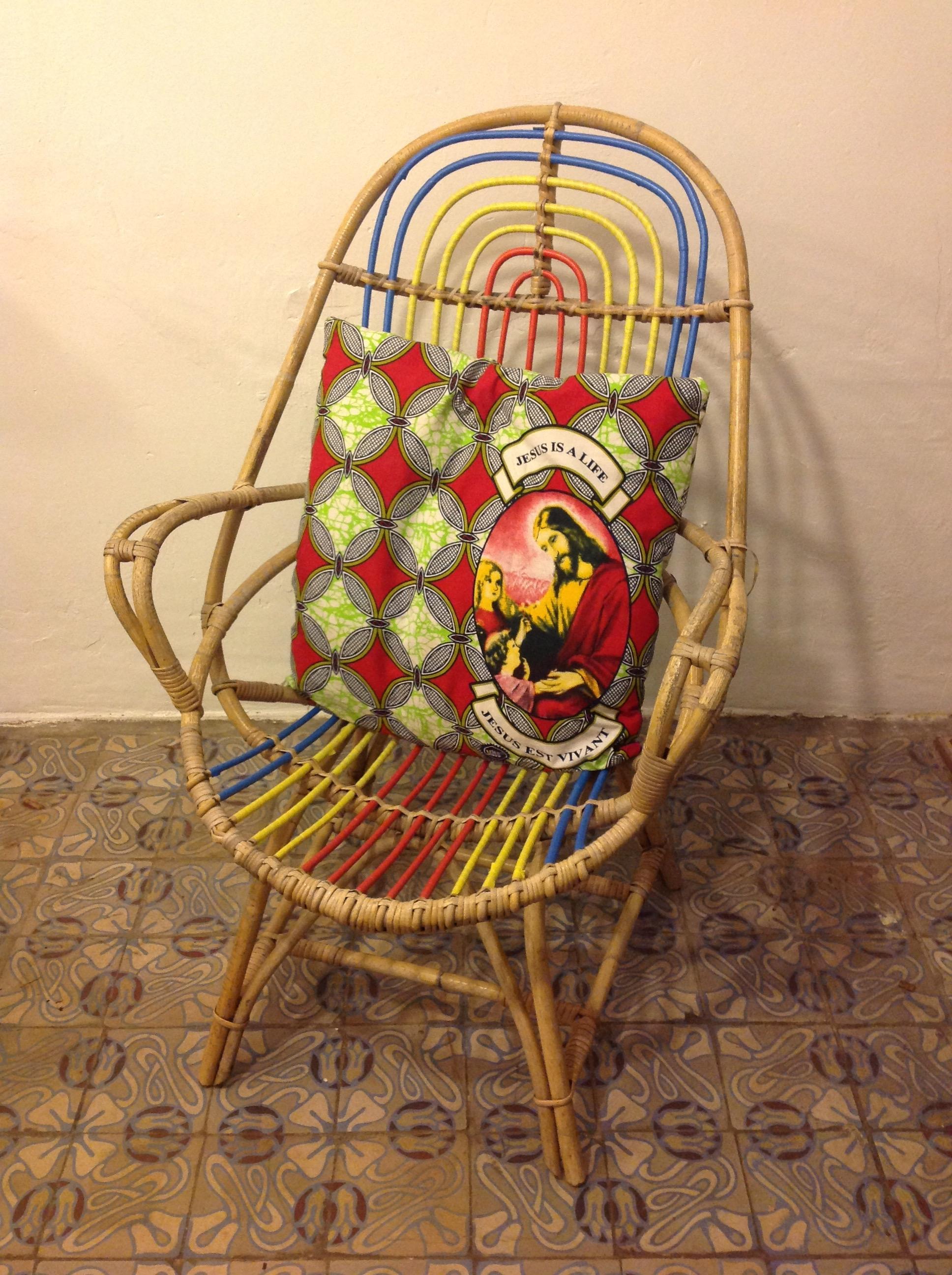 fauteuil bambou & wax